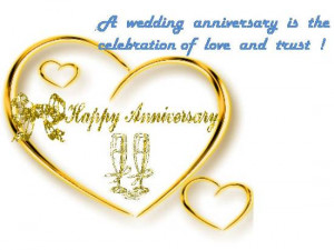 Wedding Anniversary is the Celebration of Love and Trust !