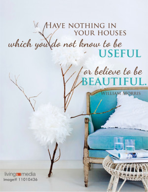 Interior Design Quote - Useful & Beautiful