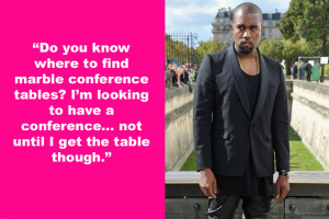this word vomit spewed from the holier-than-thou mouth of Kanye West ...