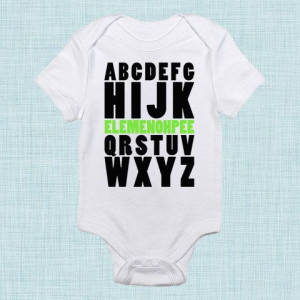 Baby, Alphabet Baby Shower, Funny Baby Gifts, For New Parents, Baby ...