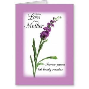 Images of Sympathy Quotes For Loss Of Mother