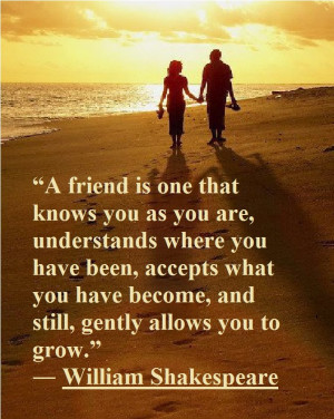 William Shakespeare – What is a true friend
