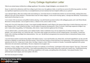 hilarious college essay A humorous essay is a type of personal or familiar essay with the primary aim of amusing readers rather than informing or persuading them.