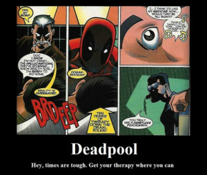 funny deadpool therapy picture