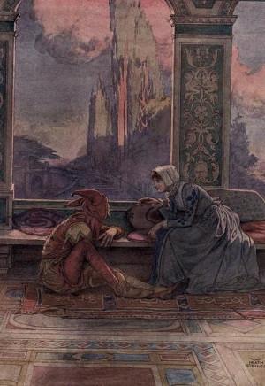 Act one, scene five. From Twelfth Night. Illus. W. Heath Robinson ...