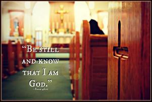 Sunday Silence - Church Photos with Quotes