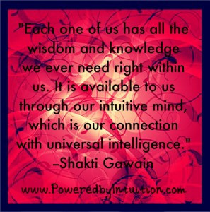 Shakti Gawain quote on Intuition