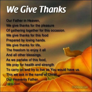 Thanksgiving prayer 1