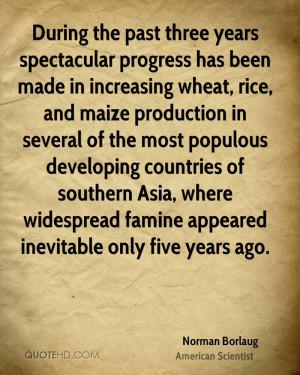 Norman Borlaug Quotes