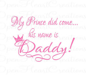 Daddys Little Girl Quotes Baby nursery girl wall