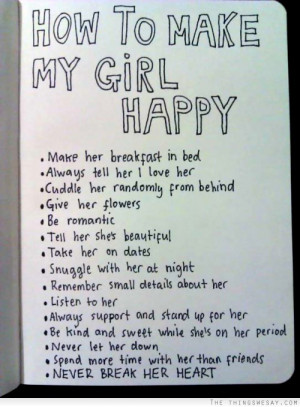 How to make my girl happy