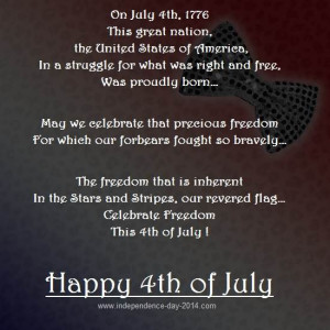 Happy 4th of July Poems