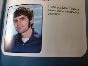 Immensely Nerdy Senior Yearbook Quote