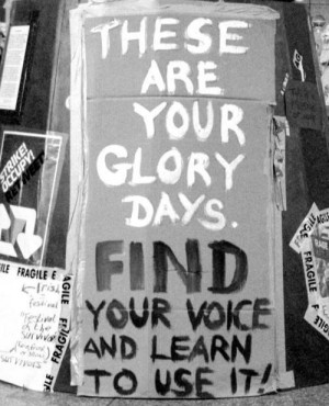 Find your voice and use it.