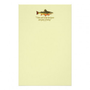 Fly Fishing Quote Customized Stationery