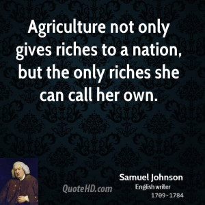 Agriculture Quotes Samuel johnson quotes