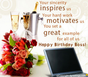 ... guidance and leadership. Wishing you loads of fun on your birthday