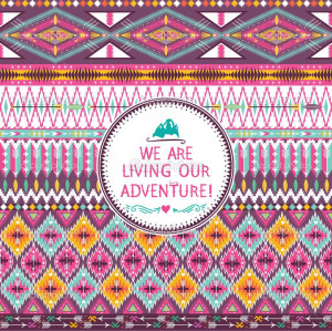Hipster seamless tribal pattern with geometric elements and quotes ...