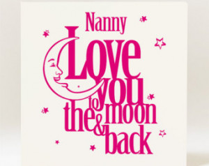 Handmade Mother's Day/Birthday Nanny, Nana, Nanna Love You to the Moon ...