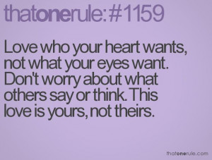 Don't worry about what others think...Easy Recipe, Remember This, Life ...