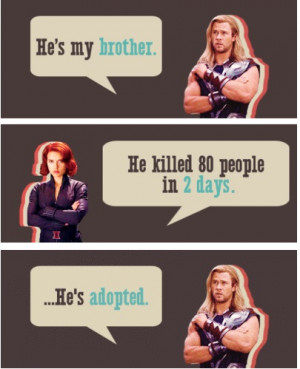 He's adopted..