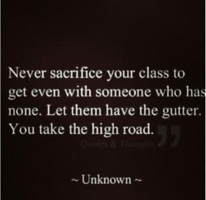 Always keep it classy! :)