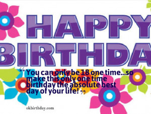 18 year old birthday quotes
