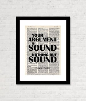 Your Argument is Sound Nothing But Sound by BluePoppyGallery, $7.95 # ...