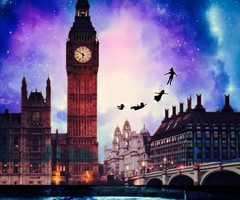 Take Me To Neverland Galaxy Background Peter pan, please take me tl