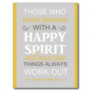 inspirational gordon b hinckley lds quote postcard