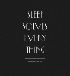... up too late and get up too early. Yawn. via Goodnight. (I love this