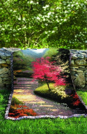 Thomas Kinkade Quote Throw