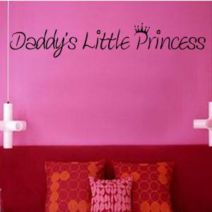 Daddys Little Princess Vinyl Wall Art