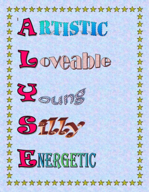 Poem Acrostic Poems How Write Exandles Name picture