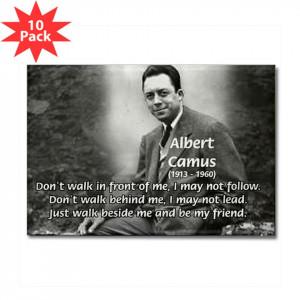 Albert Camus Philosophy of Friendship Quote Famous Art Science