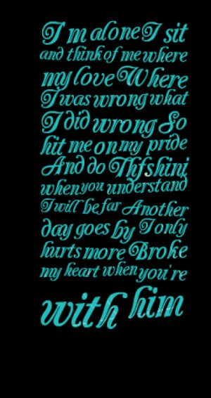 wrong what I did wrong So hit me on my pride And do Thfshini when you ...