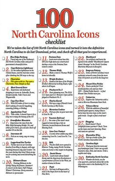 Just to be sure you don't miss a thing; 100 North Carolina Icons ...