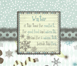 Winter Quote Wallpaper - Blue & Yellow Winter Wallpaper iwth Snow ...