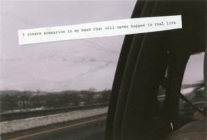 car, quotes, sky, snow, trees, typography, white