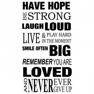 Details about Have Hope Be Strong Quote Wall Stickers / Wall Decals