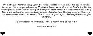 Mockingjay Quotes With Page Numbers The book called mockingjay