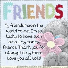 Love my Lovely Friends FROMHANTIE 9-25-14 tatty teddy quotes
