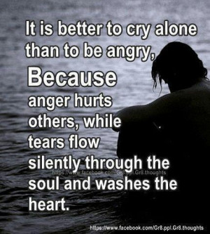 Let go of anger.