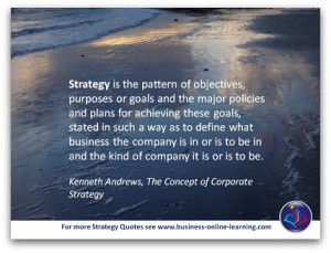 ... strategy to be carried out. And the future strategy must make