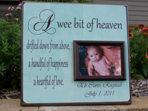 etsy.comNewborn Baby Picture Frame,
