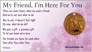 Guardian Angel Friend I'm Here For You Angel Pocket Angelhttp://www ...