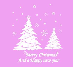 We Wish Christmas Tree Xmas Happy new year-Art Vinyl DIY wall sticker ...