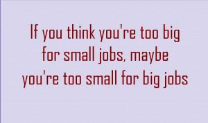 Quotes Big job