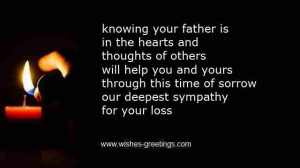 comfort prayer losing father