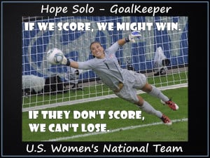 Hope Solo Olympic World Cup Soccer Champion Photo Quote Wall Art ...